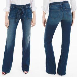 Tie waist trouser jeans